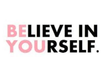 G-d to Klal Yisrael… Believe in Yourselves